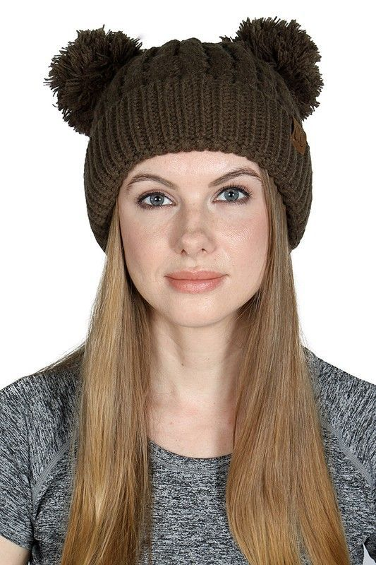 new-olive-thick-knit-cc-beanie-hat-with-double-pom-31.jpg d59ed27b536