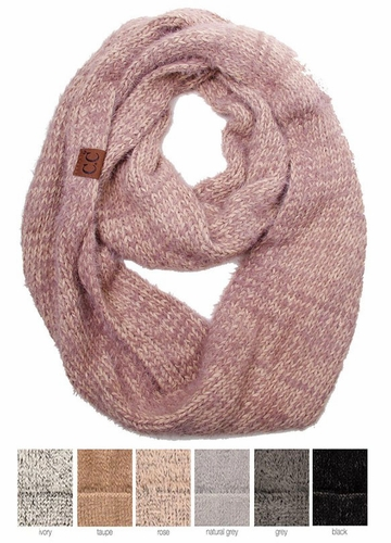 Ultra Soft Two Tone CC Infinity Scarf
