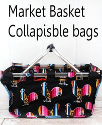 Market Basket Collapsible Bags