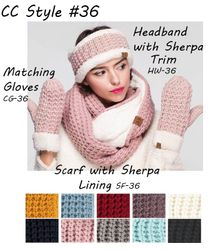 CC Collection Style #36 Sherpa Lined Winter Knitwear