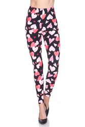Hearts Peach Skin Leggings