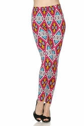 Diamond Kaleidoscope Peach Skin Leggings