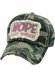 NOPE NOT TODAY Baseball Hat inset 3