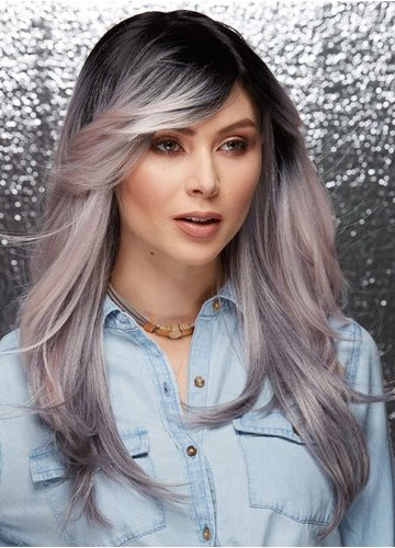 Ombre Ash Pink Wig Hipster
