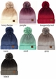 Ombre CC Beanie with Pom and Fuzzy Lining inset 1