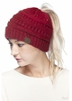 Ombre Confetti CC Beanie with Ponytail Opening inset 2