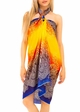 Ombre Cotton Sarong with Paisley Print inset 2