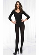 Opaque Long Sleeve Bodystocking inset 1