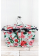 Painted Posies Collapsible Insulated Market Basket with Lid inset 1