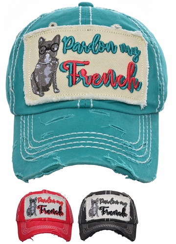 Pardon My French Vintage Baseball Hat