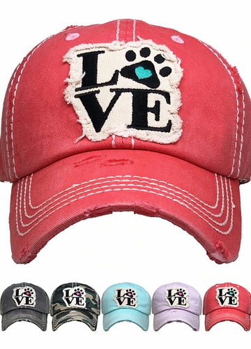Paw Love Patch Baseball Hat