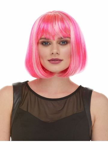 Perfect Bob Wig with Bangs Cindy in 50 Costume Colors