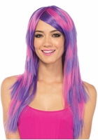 Pink and Purple Stripe Cheshire Cat Wig