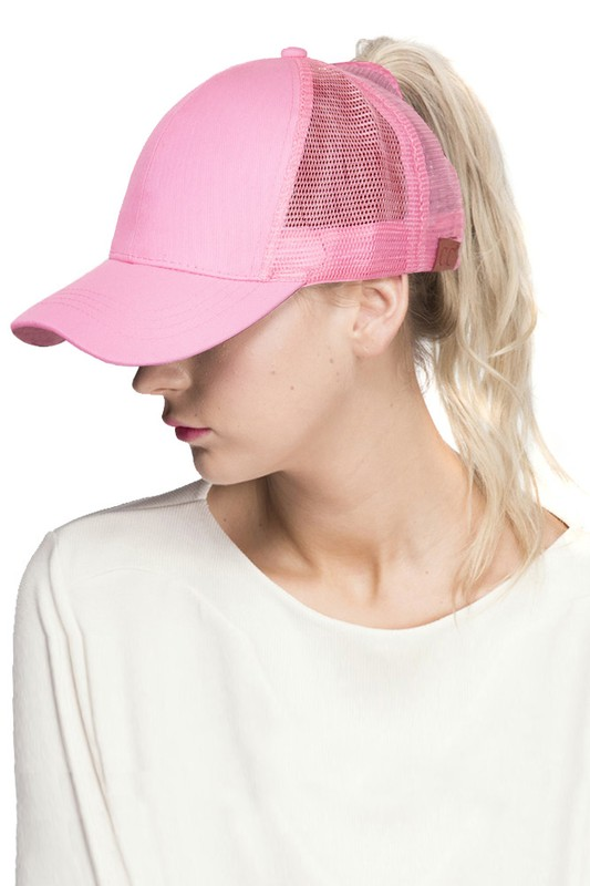 Pink CC Top Knot Trucker Hat 74c5426c51a