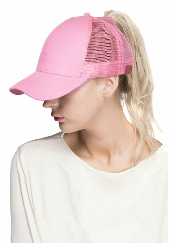 Pink CC Top Knot Trucker Hat