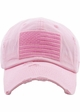 Pink US Flag Distressed Tactical Operator Baseball Hat inset 1