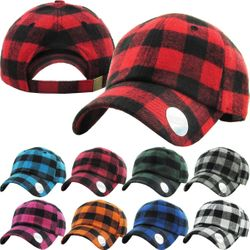 Plaid Baseball Hat