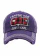 PLAID CAMPING HAIR DON'T CARE Washed Vintage Ballcap inset 2