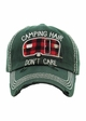 PLAID CAMPING HAIR DON'T CARE Washed Vintage Ballcap inset 4