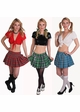 Plus Size Plaid Schoolgirl Mini Skirt Now in 5 Colors inset 3