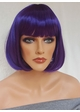 Purple Bob Wig with Bangs Cindy inset 2