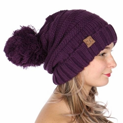 Purple CC Beanie Hats, Gloves nad Scarves