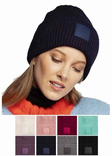 Ribbed Knit CC Hat with CC Tab