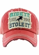 RIDE IT LIKE YOU STOLE IT Washed Vintage Ballcap inset 1