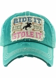RIDE IT LIKE YOU STOLE IT Washed Vintage Ballcap inset 4