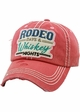 RODEO DAYS & WHISKEY NIGHTS Vintage Baseball Hat inset 1