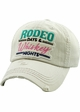 RODEO DAYS & WHISKEY NIGHTS Vintage Baseball Hat inset 2