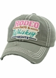 RODEO DAYS & WHISKEY NIGHTS Vintage Baseball Hat inset 4