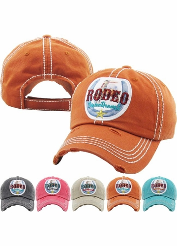 RODEO SWEETHEART Washed Vingtage Ballcap