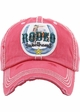 RODEO SWEETHEART Washed Vingtage Ballcap inset 1