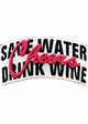 Save Water Drink Wine Vintage Baseball Hat inset 2