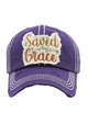 SAVED BY GRACE Vintage Wash Baseball Hat inset 1