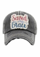 SAVED BY GRACE Vintage Wash Baseball Hat inset 2