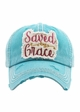 SAVED BY GRACE Vintage Wash Baseball Hat inset 4