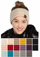 Sequin Cable Knit CC Headband with Plush Lining inset 1
