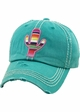 Serape Cactus Vintage Patch Baseball Hat inset 2