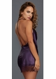 Silky Purple Chemise with Lace Trim inset 1