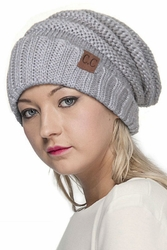 Silver and Gold Metallic Beanie Hat