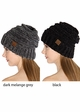 Slouchy Chenille CC Beanie Hat inset 1