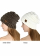 Slouchy Chenille CC Beanie Hat inset 4