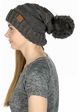 Slouchy Confetti Beanie Hat with Pompom inset 1