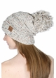 Slouchy Confetti Beanie Hat with Pompom inset 4