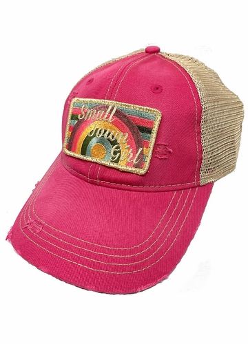 Small Town Girl Rainbow Patch Baseball Hat