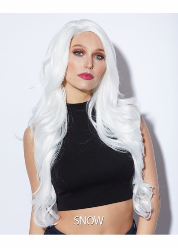 Snow Long Lace Front Wig Kim