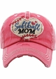 Softball Mom Washed Vintage Ballcap inset 1