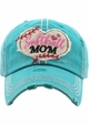 Softball Mom Washed Vintage Ballcap inset 3